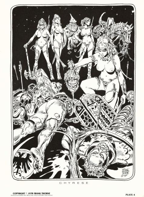 Frank Thorne's Wizards and Warrior Women Portfolio plate 4