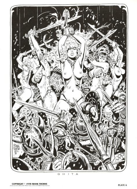 Frank Thorne's Wizards and Warrior Women Portfolio plate 6