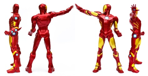 Kotobukiya's ARTFX+ Marvel Now! Iron Man statue, all sides