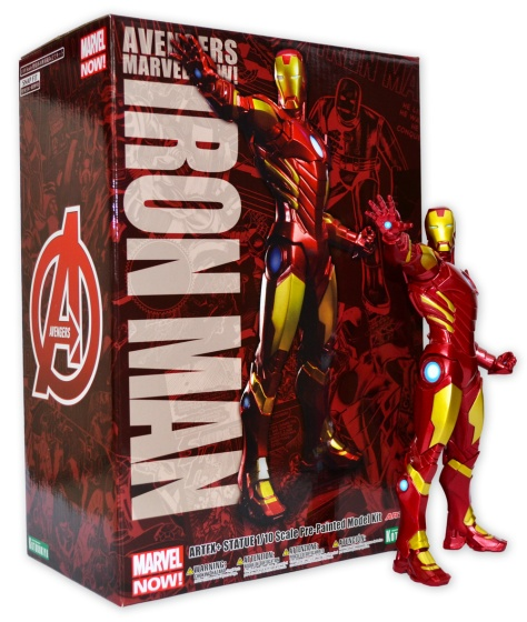 Kotobukiya's ARTFX+ Marvel Now! Iron Man statue, with box