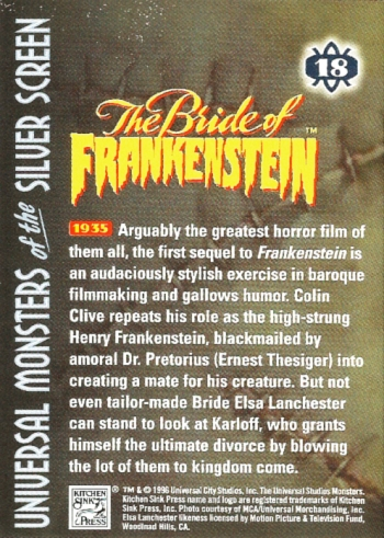 Universal Monsters Trading Cards #18