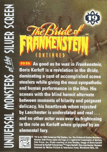 Universal Monsters Trading Cards #19