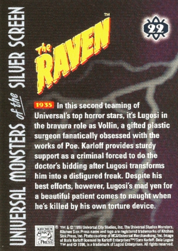Universal Monsters Trading Cards #22