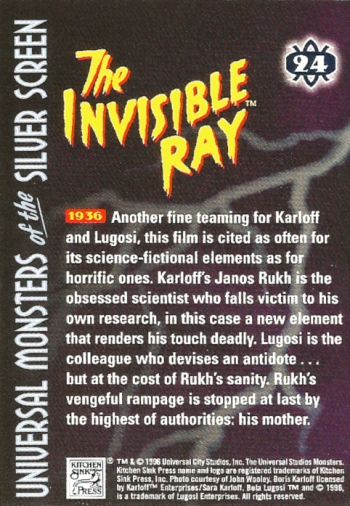 Universal Monsters Trading Cards #24