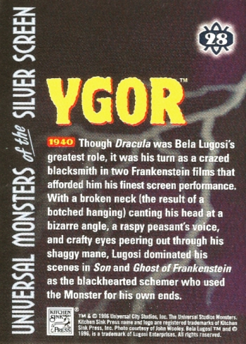 Universal Monsters Trading Cards #28