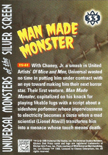 Universal Monsters Trading Cards #33