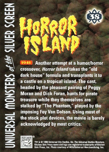 Universal Monsters Trading Cards #38