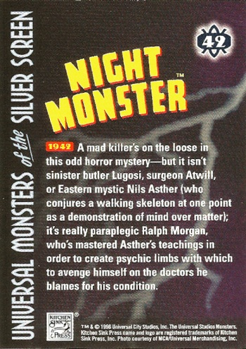 Universal Monsters Trading Cards #42