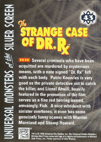 Universal Monsters Trading Cards #43