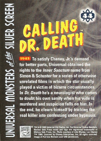 Universal Monsters Trading Cards #44