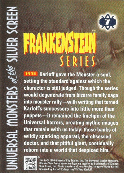 Universal Monsters of the Silver Screen Trading Cards #7