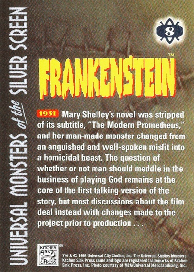 Universal Monsters of the Silver Screen Trading Cards #8