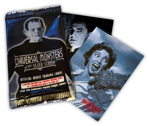Universal Monsters Trading Cards with wrapper