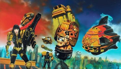 Chris Foss 2000AD covers, original artwork