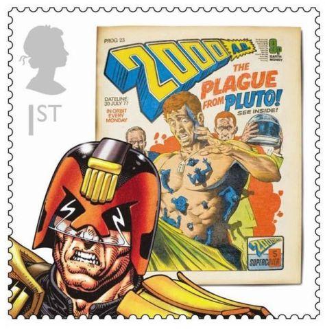 Royal Mail Judge Dredd stamp
