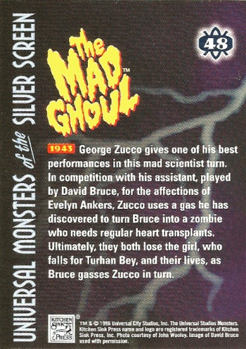Universal Monsters Trading Cards #48