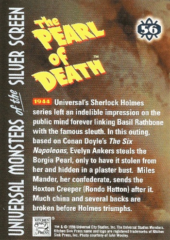 Universal Monsters Trading Cards #56