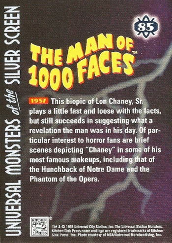 Universal Monsters Trading Cards #85