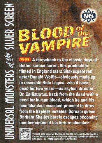 Universal Monsters Trading Cards #86