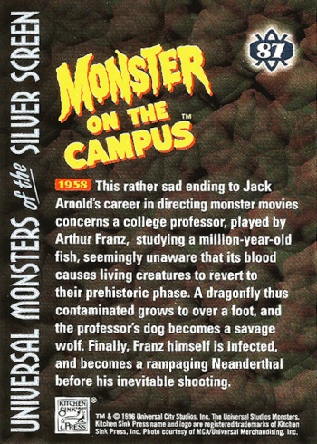Universal Monsters Trading Cards #87