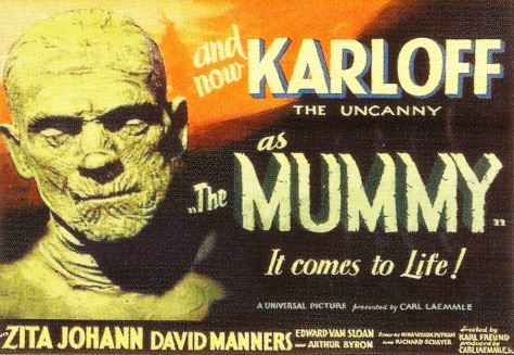 Universal Monsters Trading cards The Mummy lobby poster