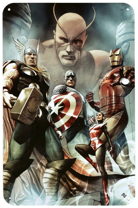 Avengers Steel Gallery Portfolio. Artwork by Adi Granov.
