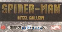 Spider-Man Steel Gallery Portfolio certificate