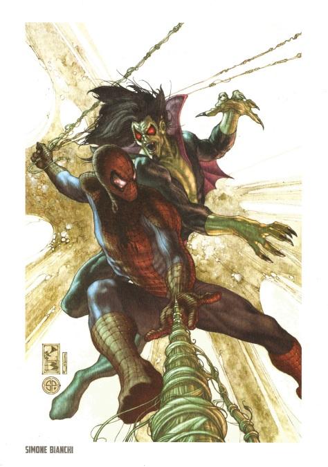 Spider-Man Steel Gallery Portfolio. Artwork by Simone Bianchi.