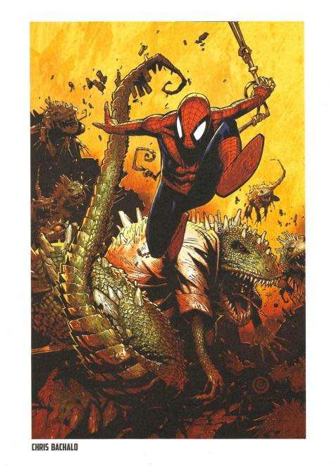 Spider-Man Steel Gallery Portfolio. Artwork by Chris Bachalo.