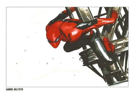 Spider-Man Steel Gallery Portfolio. Artwork by Gabriel Dell'Otto.