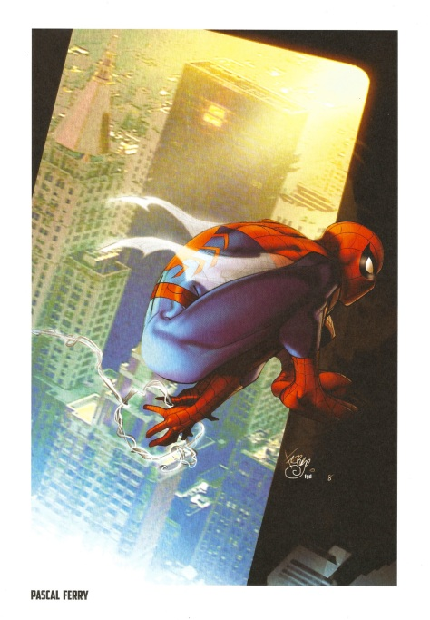 Spider-Man Steel Gallery Portfolio. Artwork by Pascal Ferry.