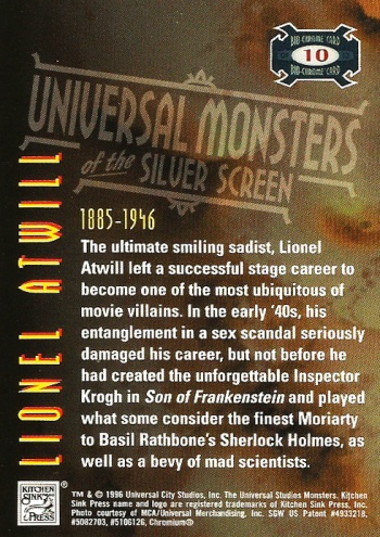 Universal Monsters Trading Cards Bio-Chrome card #10