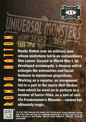 Universal Monsters Trading Cards Bio-Chrome card #11