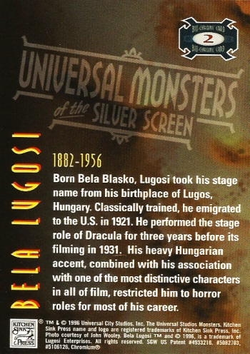 Universal Monsters Trading Cards Bio-Chrome card #2