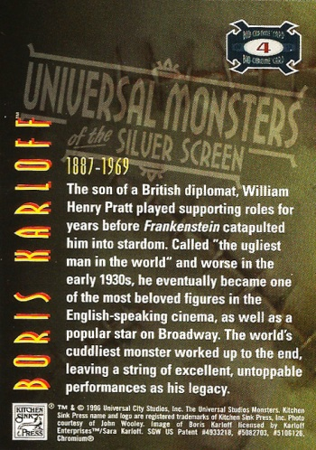 Universal Monsters Trading Cards Bio-Chrome card #4