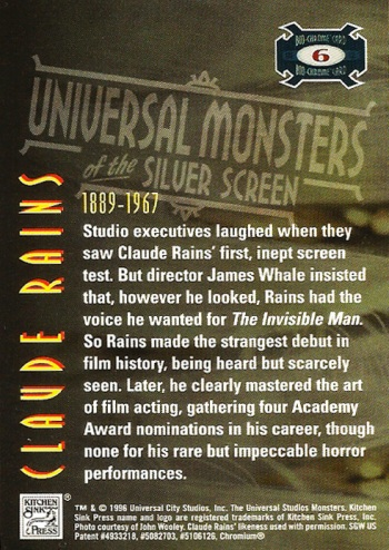 Universal Monsters Trading Cards Bio-Chrome card #6