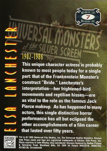 Universal Monsters Trading Cards Bio-Chrome card #7