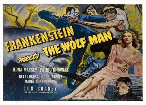 Universal Monsters of the Silver Screen Trading Cards Lobby Sticker S7