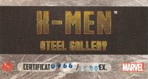 X-Men Steel Gallery Portfolio certificate