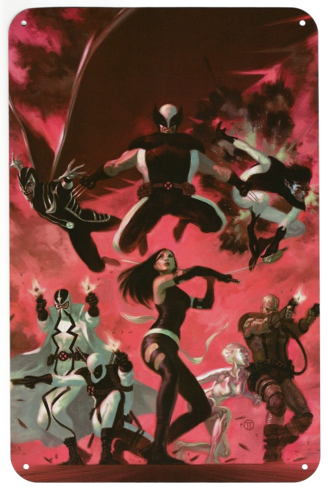 X-Men Steel Gallery Portfolio. Artwork by Julian Tedesco