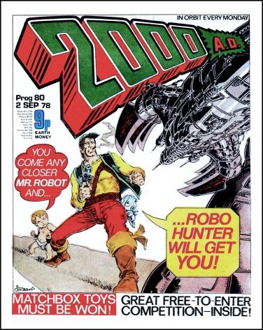 2000 AD comic Prog #80 cover