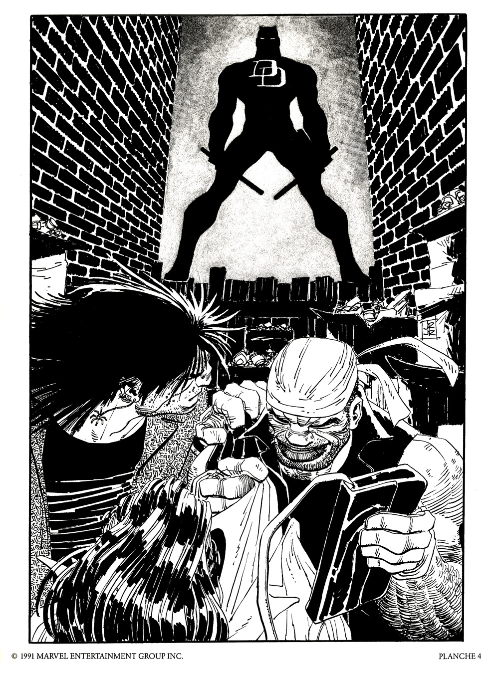 Daredevil Portfolio by John Romita, Jr (1991) | 'TAIN'T THE