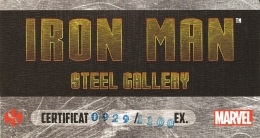 Iron Man Steel Gallery Portfolio, certificate of authenticity