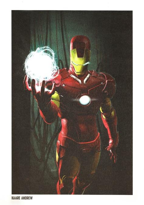 Iron Man Steel Gallery Portfolio. Artwork by Kaare Andrew.