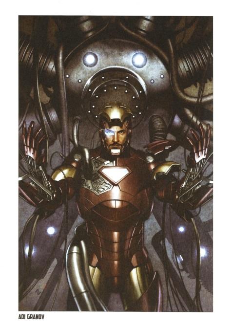 Iron Man Steel Gallery Portfolio. Artwork by Adi Granov.