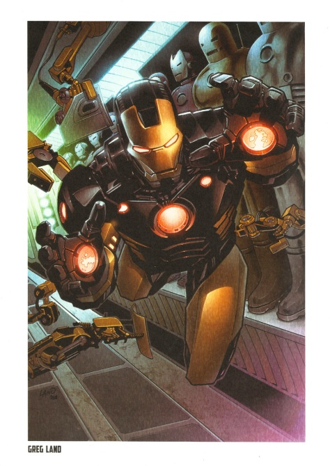 Iron Man Steel Gallery Portfolio. Artwork by Greg Land.