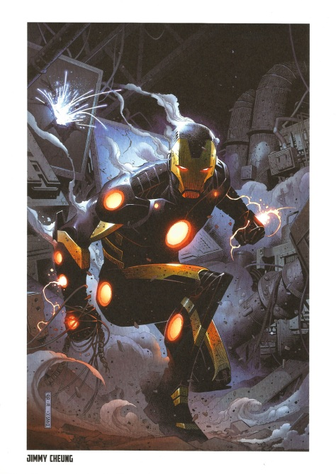 Iron Man Steel Gallery Portfolio. Artwork by Jimmy Cheung.