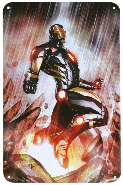 Iron Man Steel Gallery Portfolio, tin plate. Artwork by Adi Granov.