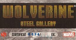 Wolverine Steel Gallery Portfolio, certificate
