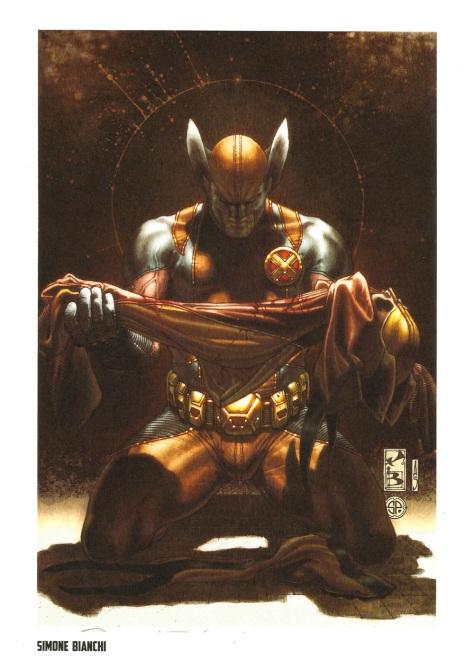 Wolverine Steel Gallery Portfolio, plate 3. Artwork by Simone Bianchi.